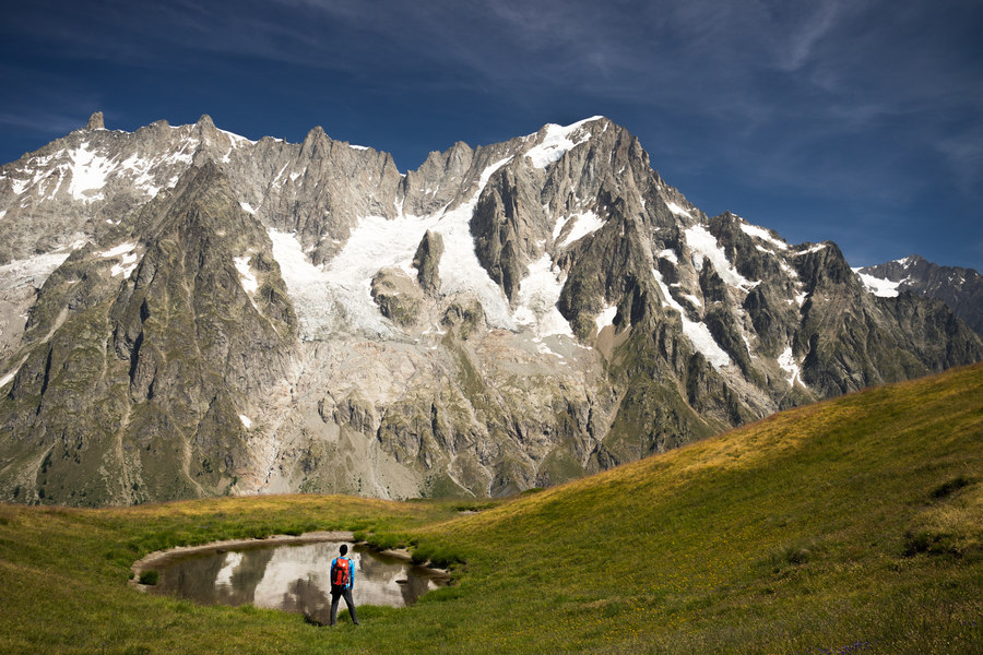 Looking towards the Grandes Jorasses atop Mont de la Saxe (photo: Dimitris Manargias)